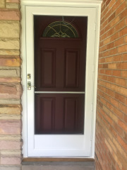 Entry Door and Storm Door installation in Bay Village Ohio by Fairview Home Improvement