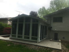 Patio Enclosure installation in North Olmsted Ohio by Fairview Home Improvement