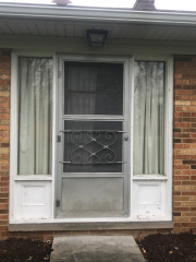 Before image of door installation in Bay Village, Ohio by Fairview Home Improvement